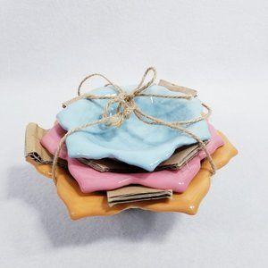 Set of Nesting Lotus Flower Bowls by Hallmark -New